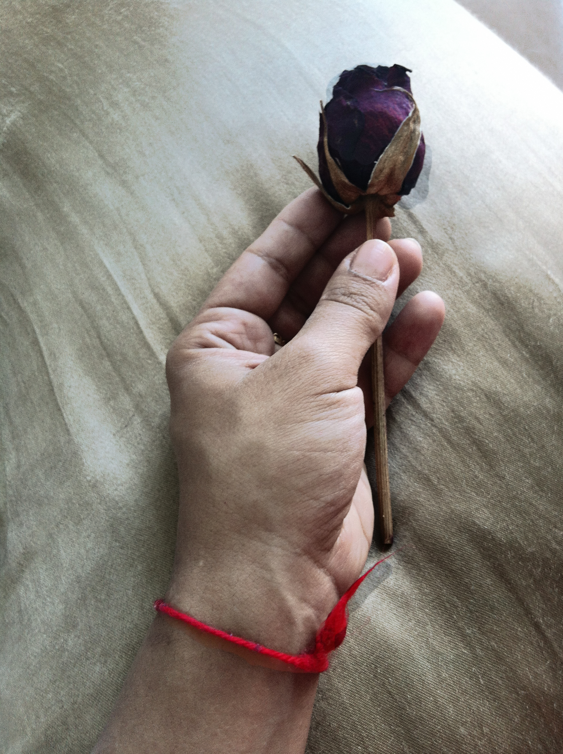 Red thread from Jerusalem on the wrist